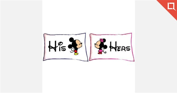 Couple Pillow With Fillers
