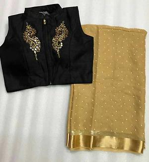 Pure Georgette Pearl Saree