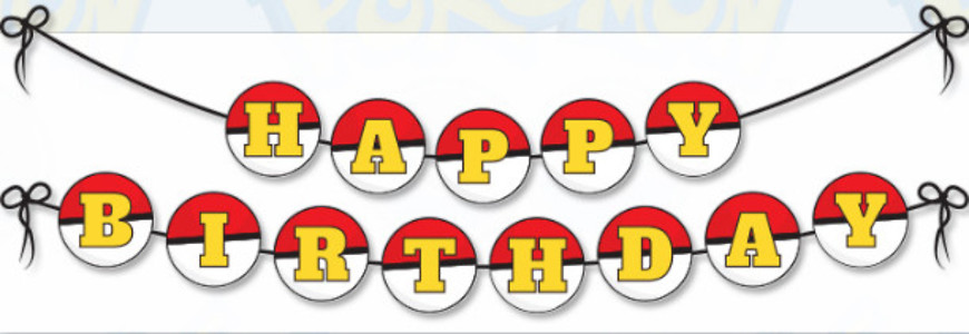 Pokeman Birthday Banner