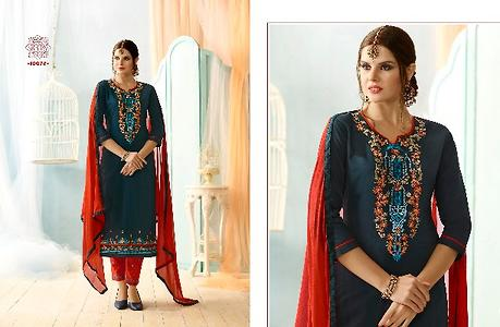 Designer Cotton embroidery Dress Material