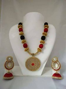 Silk thread jewelry with bangles