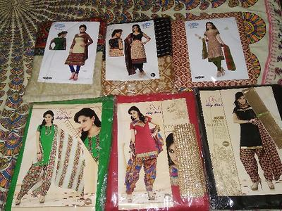 Cotton  and Synthetic Salwar material.