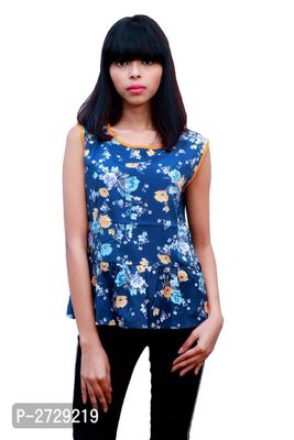 Multicoloured Polyester Regular Length Top