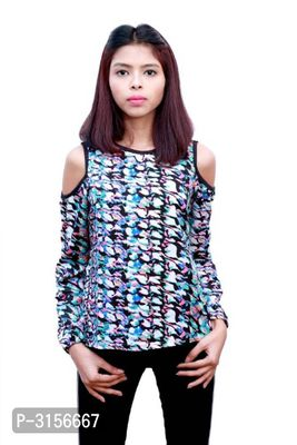 Multicolored Polyester Regular Length Top