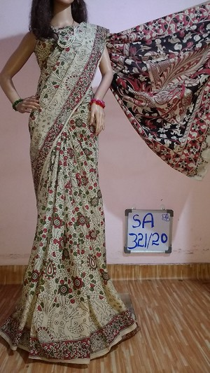 Kalamkari Soft Silk Saree