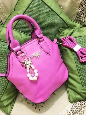 Pink prada handbag cum sling bag
