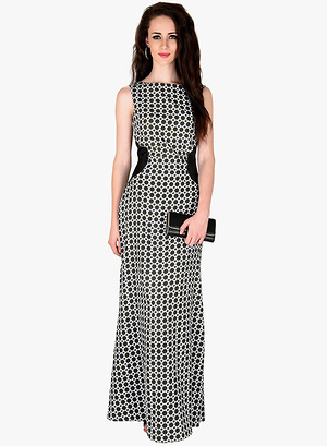 Sassafras-Grey-Coloured-Printed-Maxi-Dress