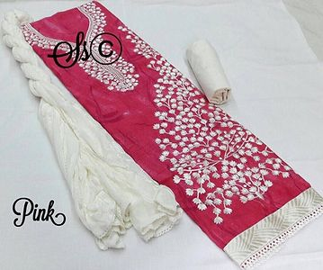 top cotton with neck thread work