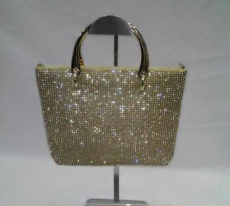 *Shimmer metal frame party tote bags