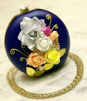 Exquisite floral stylish clutches