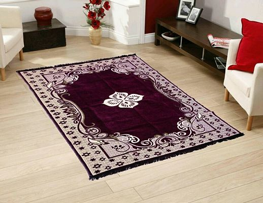 Purple  Ethnic  Touch Abstract Chenille Carpet - 54