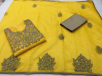 Supernet aari work dress materials and sarees