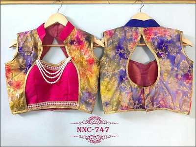 gorgeous readymade blouse with saree