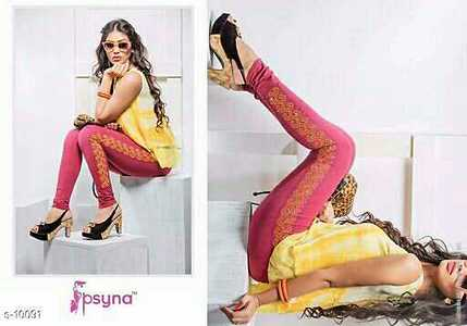 Fabric: Cotton Lycra  Size: 26in to 40in  Work: Embroidery