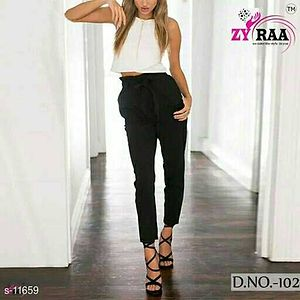 Stylish Trousers Fabric: Cotton, Lycra  Size: 28in to 40in Length - 40in