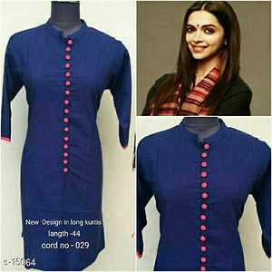 Celebrity Styles  Fabric: Cotton Size: L - 40in, XL – 42in, XXL – 44in Length: Upto 44in