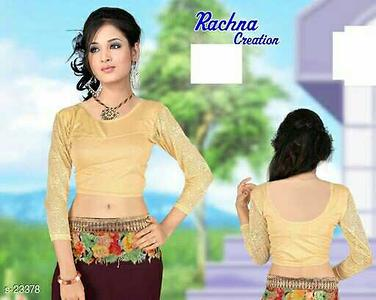Designs in Blouses Fabric: Poly Lycra Size: Bust - Upto 40 in to 44 in (Free Size) Length: 15 in