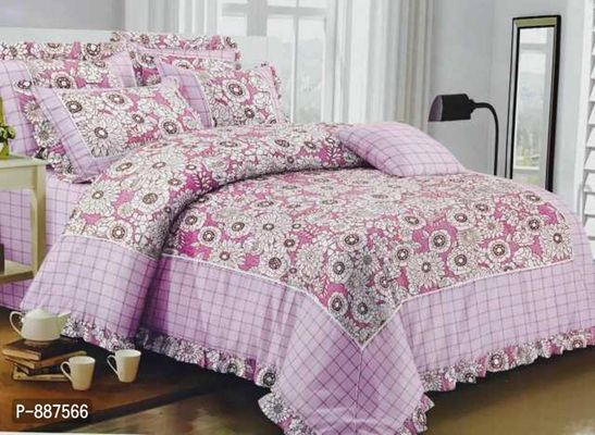 Glace cotton  Comforter  set Contents : 4pc  1 bedsheet  108*108 2 pillow covers  1 comforter 90*100  Packing : bag packing  Price: 2200+shipping  #rp