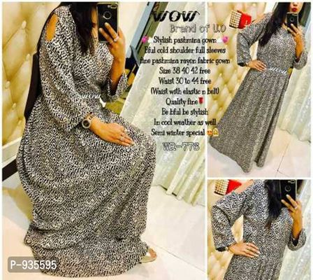 Wow® Kitty party 🙆 Birthday party 🙆 Outing🙇♀  Wht to wear smthng smart n stylish🤔🤔🤔🤔🤔🤔 No tension now 🤳🏻🤳🏻🤳🏻🤳🏻 Order fast wow cold sleeves stylish gown ‼‼‼👰👰👰👰  💞⛅Stylish cold s