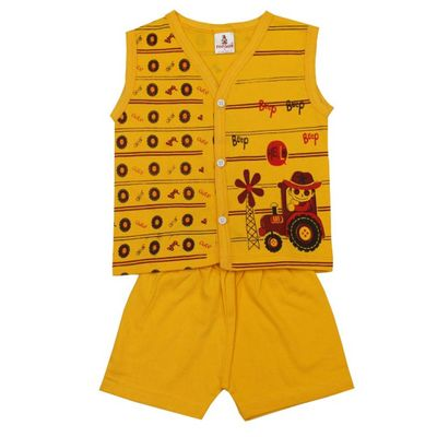 COLOR FULL YELLOW COLOR COMBED COTTON SUPER PAPOON KIDS WEAR