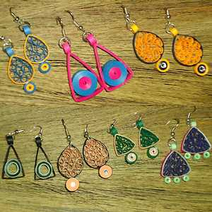 simple quilled earrings