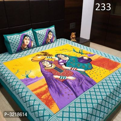 Cotton Double Bedsheet With Pillow Cover