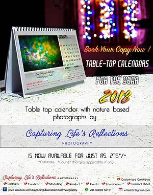 Table Top Calendar for the year 2018 is ready for sale !