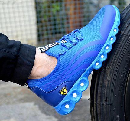 Men's Mesh Stylish Blue Sports Shoes