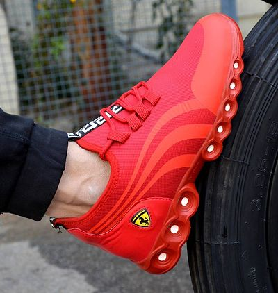 Men's Mesh Stylish Red Sports Shoes