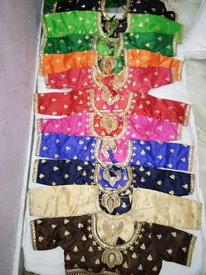 Heavy embroidered READYMADE BLOUSE