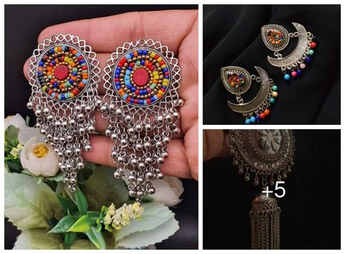 beautiful-and-trendy-oxidised-earring