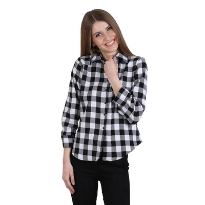 Black Checked Top