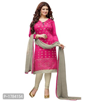 Pink Embroidered Georgette Semi Stitched Salwar Suits