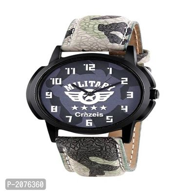 Grey Analogue Watch For Men/Boys