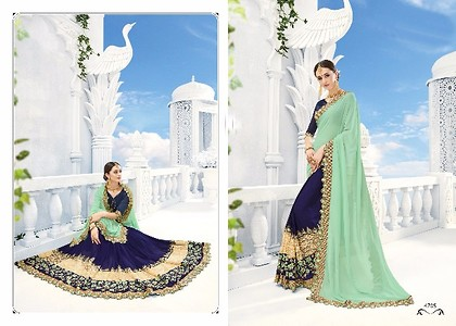 New Designer Party Wear Collection of Georgette Saree with Benglori Blouse