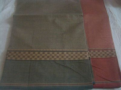 Chettinacdu pure cotton saree with thread worked border