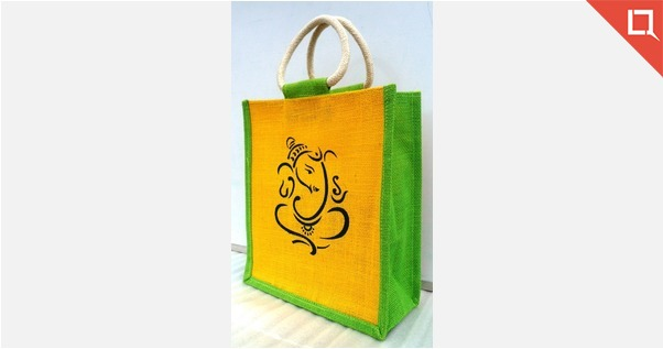 Ganesha Printed Jute bag