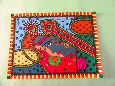 Madhubani Painting- Shiva and Shakti