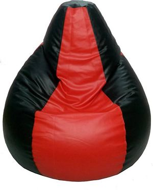XXLTeardrop Bean Bag Cover With Out Bean (Red::Black)-KL_BN_027