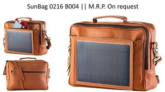 Leather  solar  laptops  bags for corporate  use