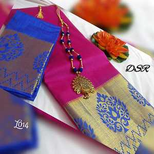 🦋🦋🦋🦋🦋🦋🦋🦋🦋🦋🦋  Tussar Contrast and make a chic statement.....   Tussar zari flower with contrast border n  contrast blouse with matching antique dancing peacock silk thread jewelry @ 1050+$  🍀only saree 850+$  🍀limited stock.... Book urs soon 🦋🦋🦋🦋🦋🦋🦋🦋🦋🦋🦋🦋