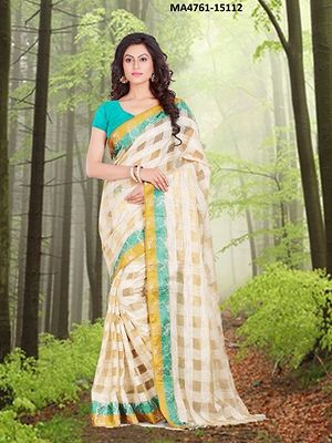 Checks light weight sarees