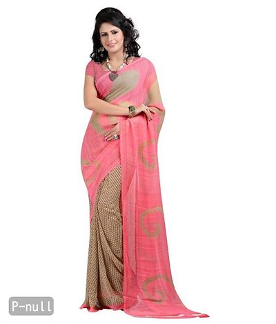 Georgette Printed Multi Color Casual Saree