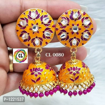 hand painted jhumkis