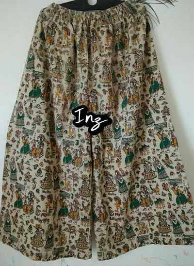 Kalamkari cotton Palazzo  Cotton is perfect for wearing in the summer, as it can easily absorb body sweat and able to draw heat away from your skin, keeping you cool and comfortable in hot weather.  i