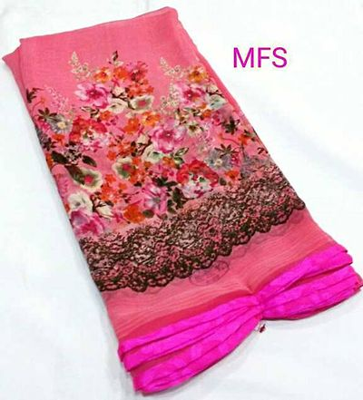 🍁Indroducing Vishal Prints By Mfs Brands 🙂  ⚜Top Most Selling products   🦋Materials - Printed Georgette with Small Piping Border High Quality Fabric  i