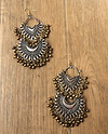 Double tone 2 layer earring