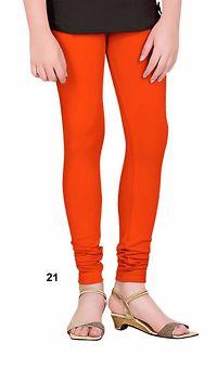 Orange Cotton Lycra Legging