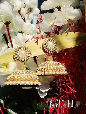 Quilled wedding jhumka