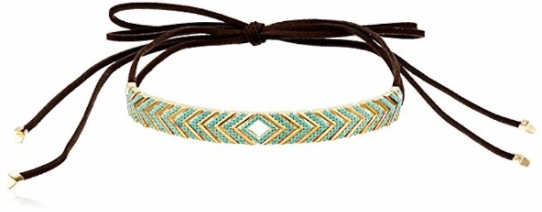 Noir Jewelry Oceanic Wrap Choker Necklace, 42